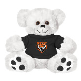 Plush Big Paw 8 1/2 inch White Bear w/Black Shirt-Primary Athletics Mark