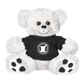 Plush Big Paw 8 1/2 inch White Bear w/Black Shirt-Pharmacy Seal