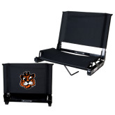 Stadium Chair Black-Vintage Mascot Head
