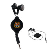 Black Retractable Ear Buds-Bengal Head