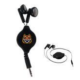 Black Retractable Ear Buds-Bengal Head