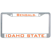 Metal License Plate Frame in Chrome-Bengals