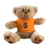 Plush Big Paw 8 1/2 inch Brown Bear w/Orange Shirt-Interlocking IS