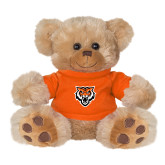 Plush Big Paw 8 1/2 inch Brown Bear w/Orange Shirt-Primary Athletics Mark