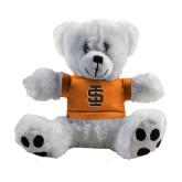 Plush Big Paw 8 1/2 inch White Bear w/Orange Shirt-Interlocking IS