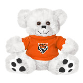 Plush Big Paw 8 1/2 inch White Bear w/Orange Shirt-Primary Athletics Mark