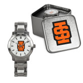 Mens Stainless Steel Fashion Watch-Interlocking IS - Two Color