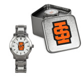 Ladies Stainless Steel Fashion Watch-Interlocking IS - Two Color