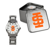 Ladies Stainless Steel Fashion Watch-Interlocking IS - One Color