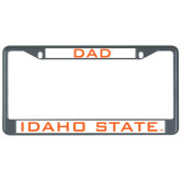 Dad Metal License Plate Frame in Black-Dad