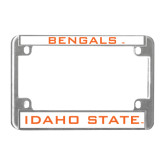 Metal Motorcycle License Plate Frame in Chrome-Bengals