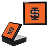 Ebony Black Accessory Box With 6 x 6 Tile-Interlocking IS