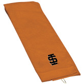 Orange Golf Towel-Interlocking IS