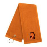 Orange Golf Towel-Interlocking IS - Two Color