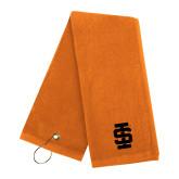 Orange Golf Towel-Interlocking IS - One Color