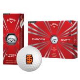 Callaway Chrome Soft Golf Balls 12/pkg-Interlocking IS - Two Color