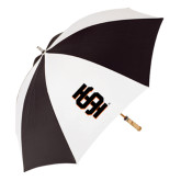62 Inch Black/White Umbrella-Interlocking IS
