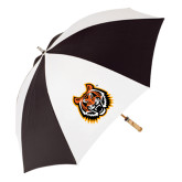 62 Inch Black/White Umbrella-Bengal Head