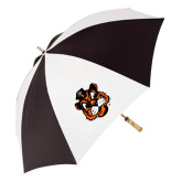 62 Inch Black/White Umbrella-Vintage Mascot Head