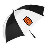62 Inch Black/White Vented Umbrella-Interlocking IS - Two Color