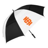 62 Inch Black/White Vented Umbrella-Interlocking IS - One Color