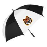 62 Inch Black/White Vented Umbrella-Bengal Head
