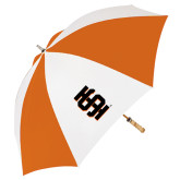 62 Inch Orange/White Umbrella-Interlocking IS