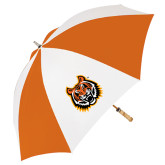 62 Inch Orange/White Umbrella-Bengal Head