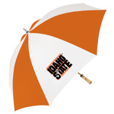 62 Inch Orange/White Umbrella-Idaho State Block