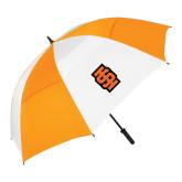62 Inch Orange/White Vented Umbrella-Interlocking IS - Two Color