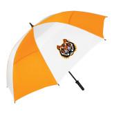 62 Inch Orange/White Vented Umbrella-Bengal Head
