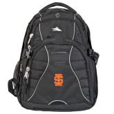 High Sierra Swerve Black Compu Backpack-Interlocking IS