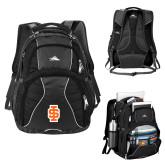 High Sierra Swerve Black Compu Backpack-Interlocking IS - 2 Color