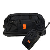 Urban Passage Wheeled Black Duffel-Interlocking IS