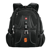 Wenger Swiss Army Mega Black Compu Backpack-Interlocking IS