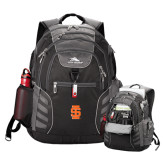 High Sierra Big Wig Black Compu Backpack-Interlocking IS
