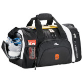 High Sierra Black 22 Inch Garrett Sport Duffel-Interlocking IS