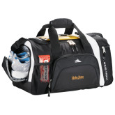 High Sierra Black 22 Inch Garrett Sport Duffel-University Mark
