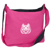 Cotton Canvas Tropical Pink/Charcoal Sling Bag-Bengal Head