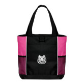 Black/Tropical Pink Panel Tote-Bengal Head