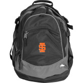 High Sierra Black Fat Boy Day Pack-Interlocking IS