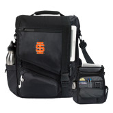 Momentum Black Computer Messenger Bag-Interlocking IS