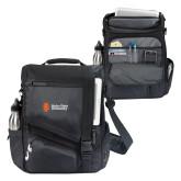 Momentum Black Computer Messenger Bag-Institutional Mark