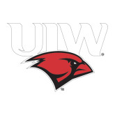 Large Decal-UIW Cardinal Head Stacked, 12 inches tall