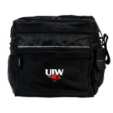 All Sport Black Cooler-UIW Cardinal Head Stacked