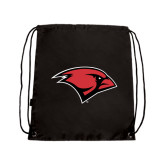 Black Drawstring Backpack-Cardinal Head