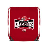 Red Drawstring Backpack-2018 Southland Football Champions