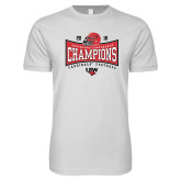 Next Level SoftStyle White T Shirt-2018 Southland Football Champions