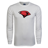 White Long Sleeve T Shirt-Cardinal Head