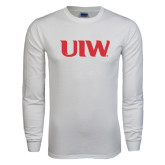 White Long Sleeve T Shirt-UIW